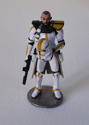 Weber clone trooper - Olivier Weber / résine peinte sur figurine - 10cm - 12 exemplaires - 200€