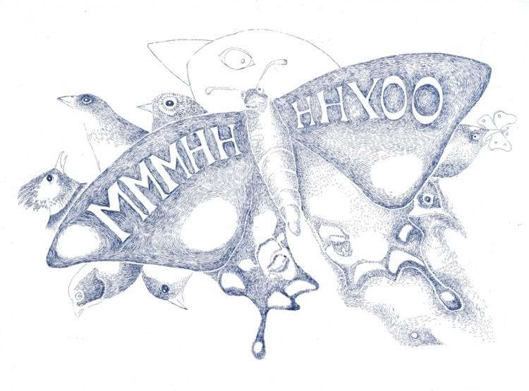 MMMHHHHYOO - Thomas Lanfranchi / eau forte sur papier - 45x34 cm - 12 exemplaires - 200 €
