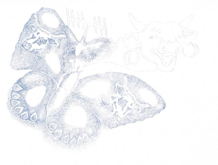 La Voix - Thomas Lanfranchi / eau forte sur papier - 44x34 cm - 12 exemplaires - 200 €