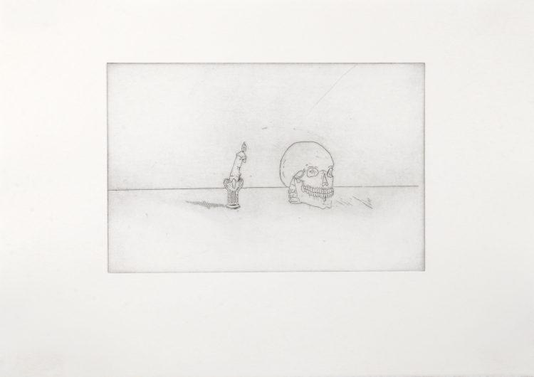 Sans titre (vanité) - Shan Serre Sanchez Guillot / eau forte sur papier - 12 exemplaires - 60€